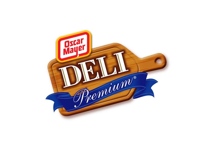 Oscar Mayer Deli Premium grocery store branding design.