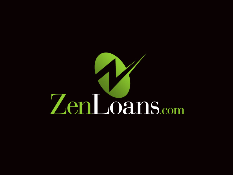 ZenLoans mortgage logo design.