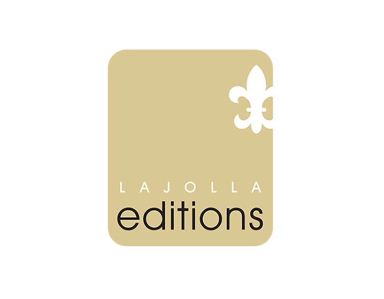 La Jolla Editions art gallery logo design.