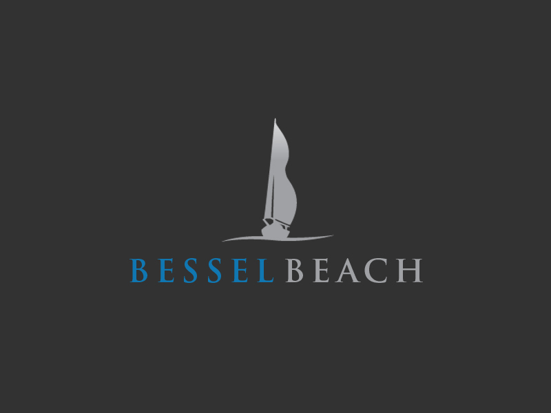 Bessel Beach resort and spa logo design.