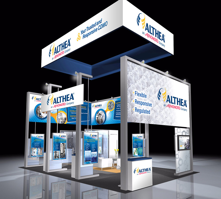 Trade show convention design for Althea Tech Ajinomoto