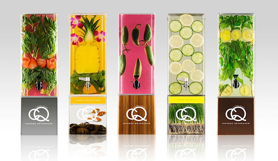 CQ Beverages Infusion Jar packaging design