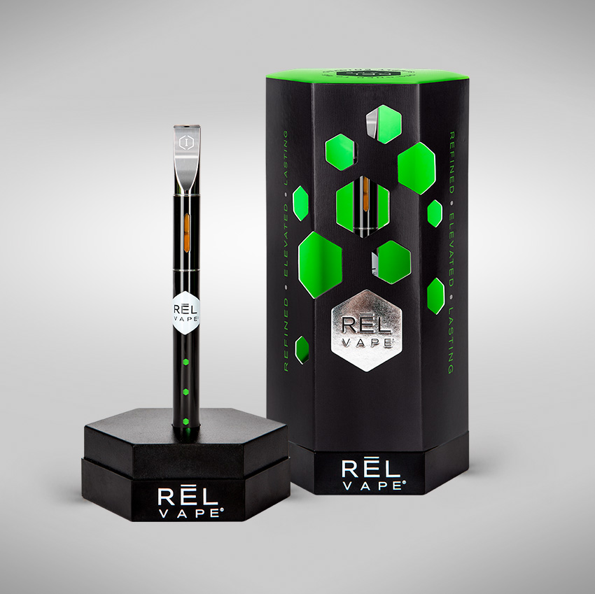 RĒL Vape Cannabis Oil and Vape Pen Packaging Design