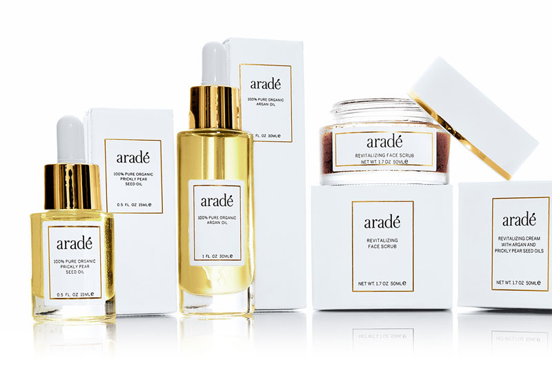 Arade health and beauty packaging design