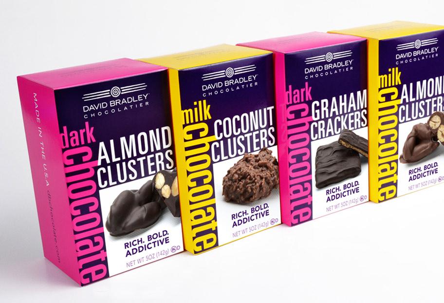 Copy of Copy of David Bradley Chocolate package design