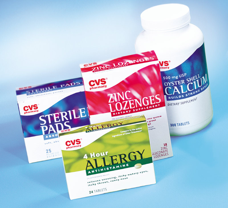 CVS over the counter packaging design