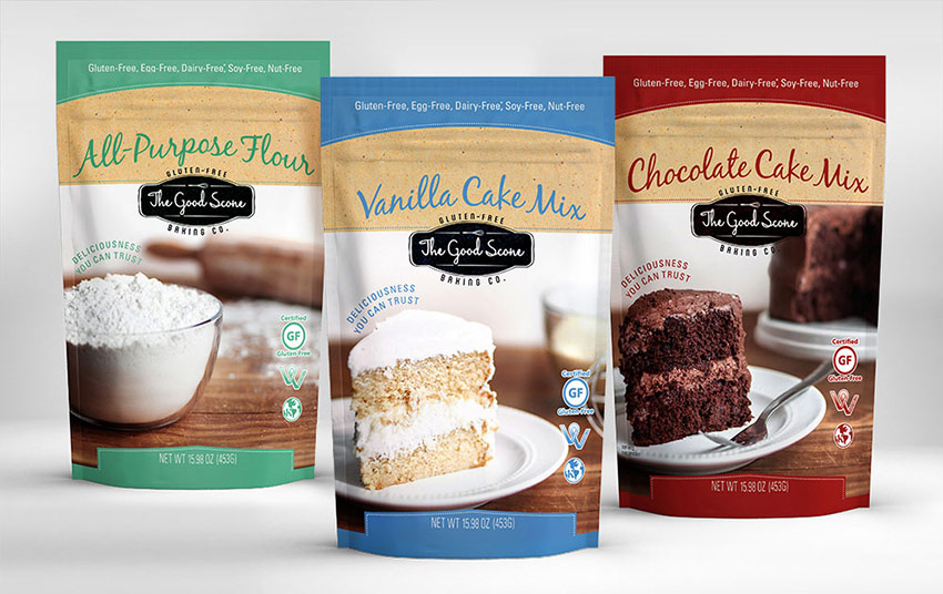 Good Scone dessert and baking packaging design