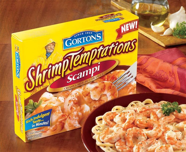 Copy of Gorton's Shrimp Temptation packaging design