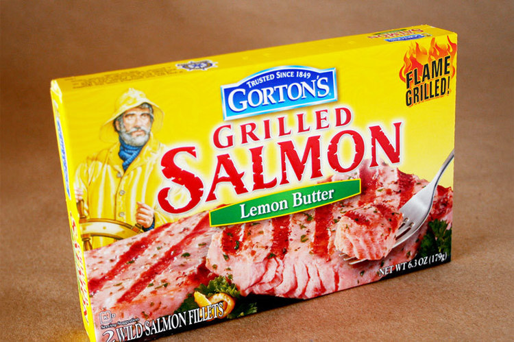 Copy of Gorton's Grilled Salmon package design