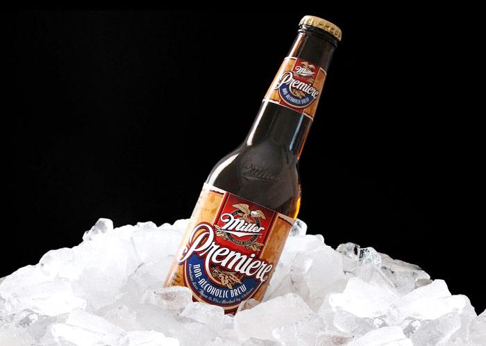 Miller Premiere non-alcoholic retail packaging design