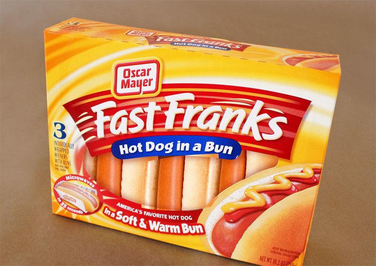 Fast Franks Oscar Mayer food packaging design