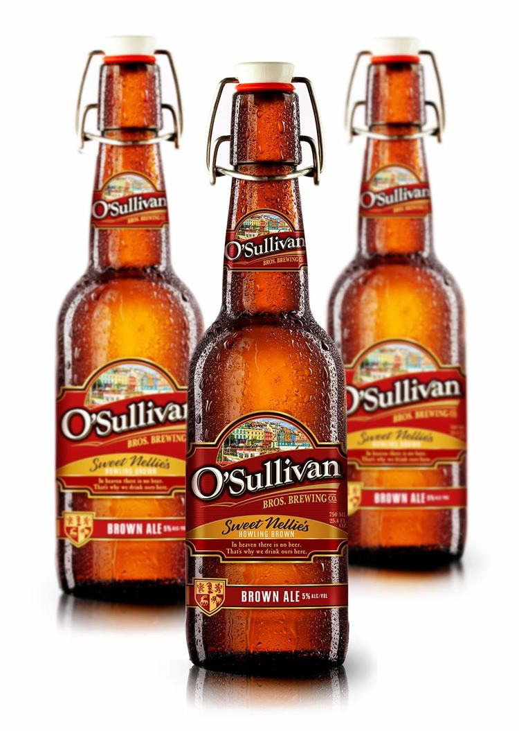 O'Sullivan's Brewing microbrew beer bottle design