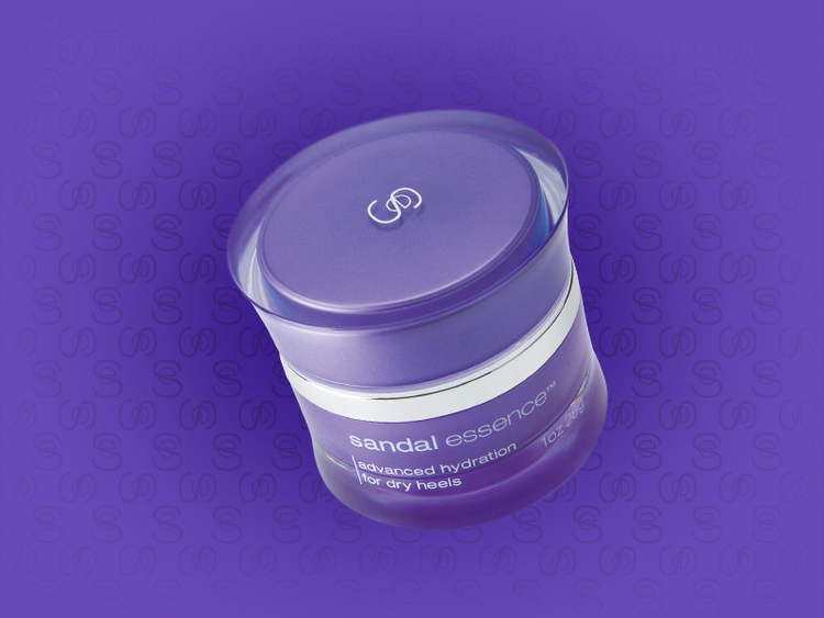 Sandal Essence body lotion jar design