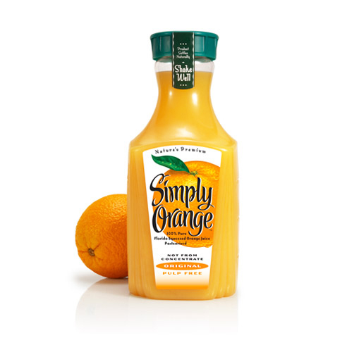 Copy of Copy of Simply Orange beverage packaging design