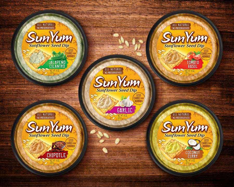 Sunyum Sunflower Seed Dip packaging design