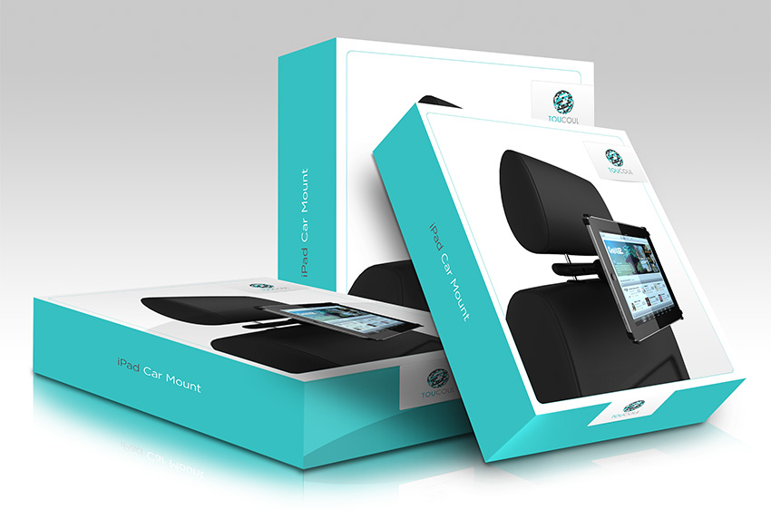 TouCoul Ipad stand packaging design