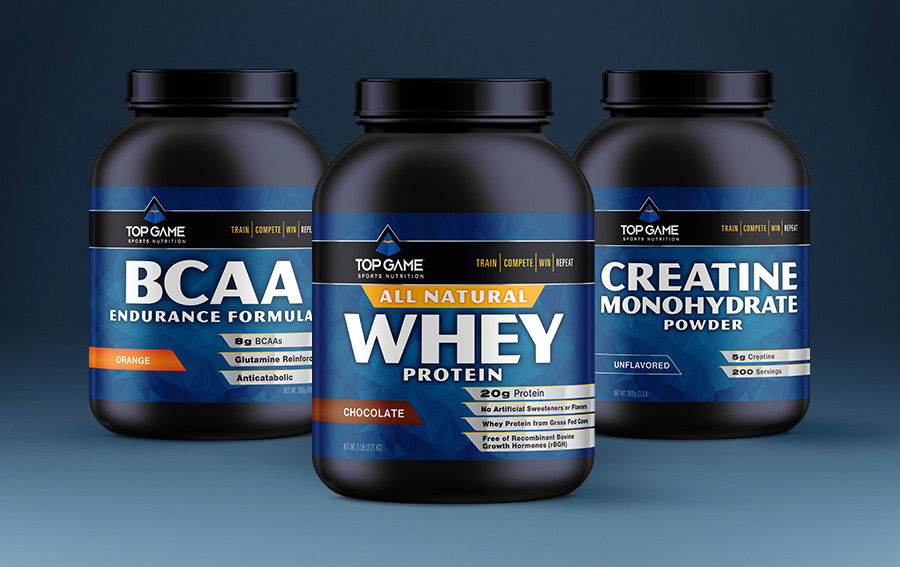 Top Game Sports Nutrition protein label design