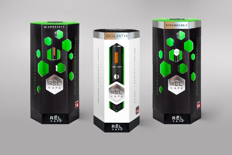 RĒL Vape Cannabis Oil & Vape Pen packaging design