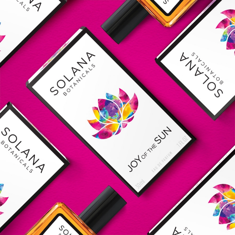 Solana Botanicals perfume box design