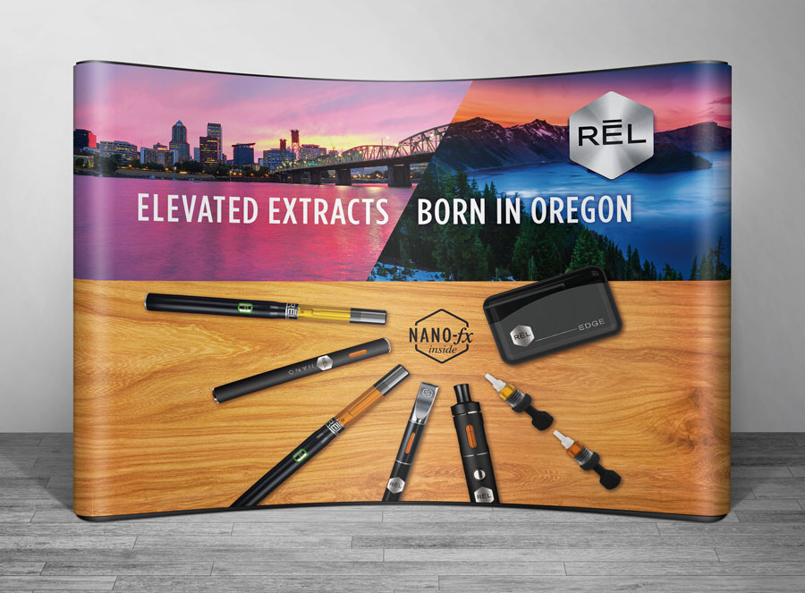 RĒL Cannabis trade show display