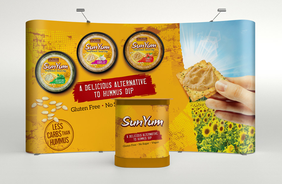 Sunyum trade show display and banners