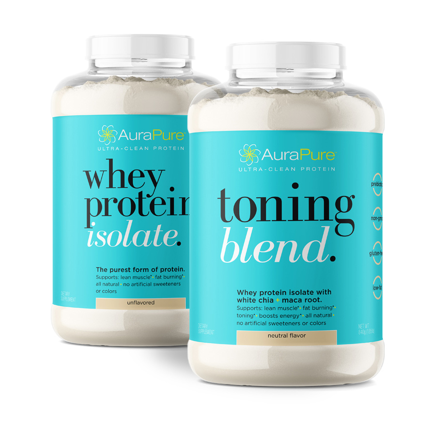Copy of Copy of Copy of AuraPure protein packaging design