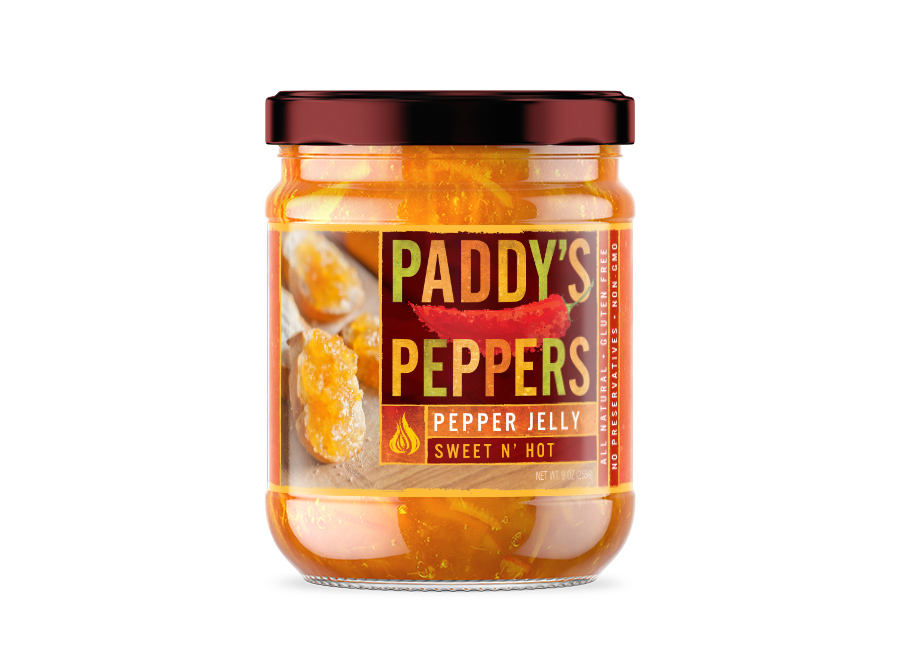 Paddy's Peppers jelly label design