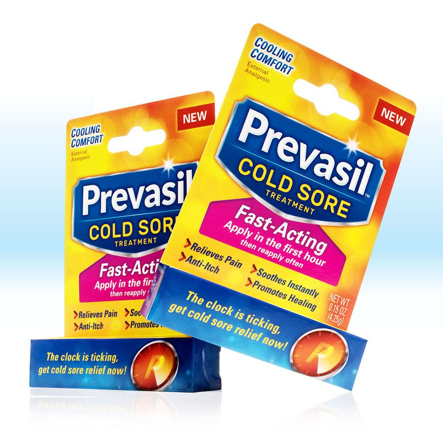 Prevasil Lip Balm packaging design