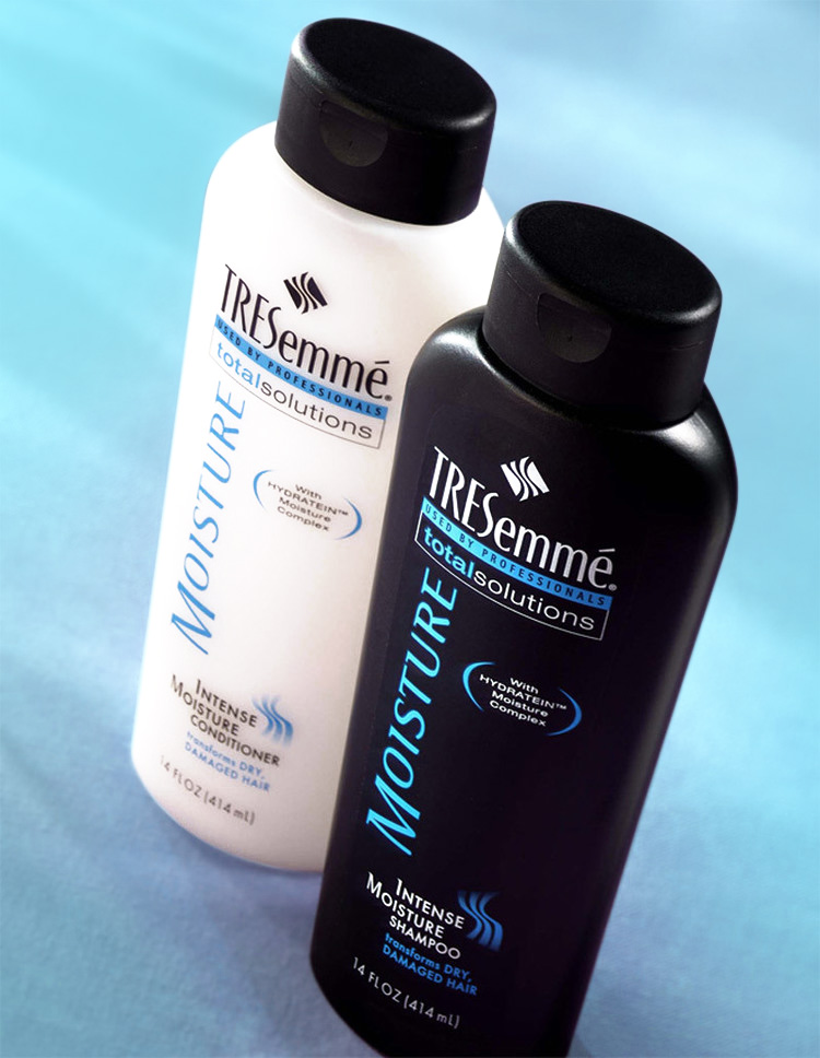 Tresemmé shampoo bottle label design
