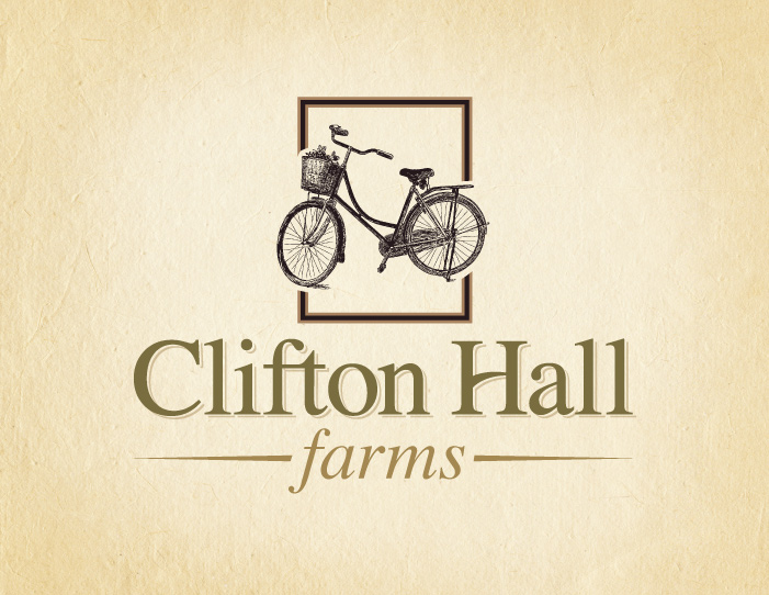 Clifton Hall Farms logo design