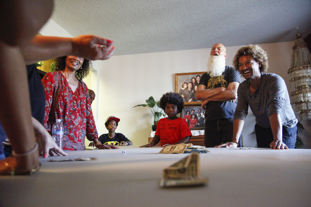 Mitchell plays games with his family on Oct. 18, 2015 in Oxnard, Calif. Since the majority of his family members have birthdays in October, they celebrate by having a big party for everyone.
