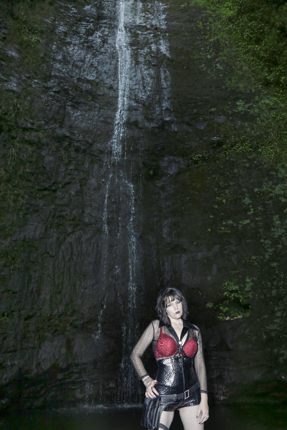 "Xylena Strange, 39, photographed at Manoa Falls in Manoa, HI. ""I was always the 'strange' girl growing up. When I moved to Hawai'i, the goth community here claimed me as one of their own and has always accepted me just as I am."""