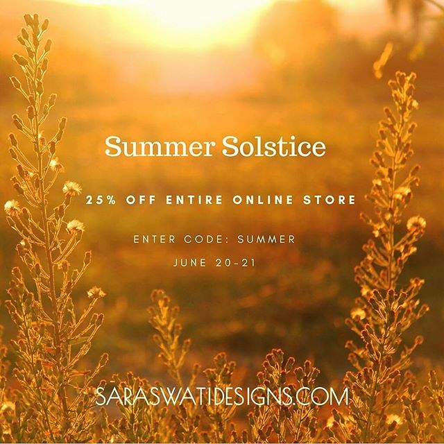Come on down for the @saraswatidesign Summer Solstice sale, 25% off online and in-store! #vacancyhall #sale #jewelry #yeg #summersale #design
