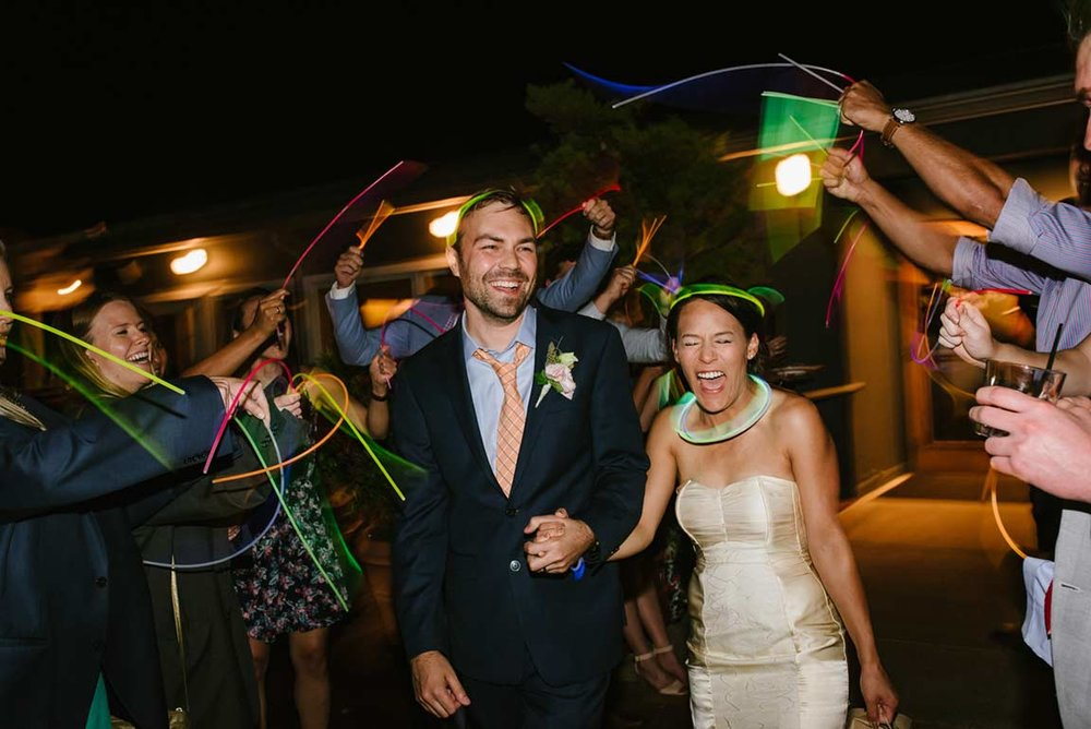 Bride and Groom Exit at Rays Boathouse by Brandon Patoc Photography