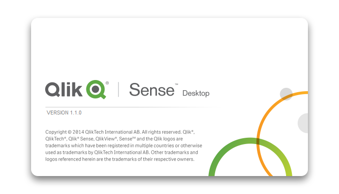 Screen capture from Qlik Sense's desktop Application
