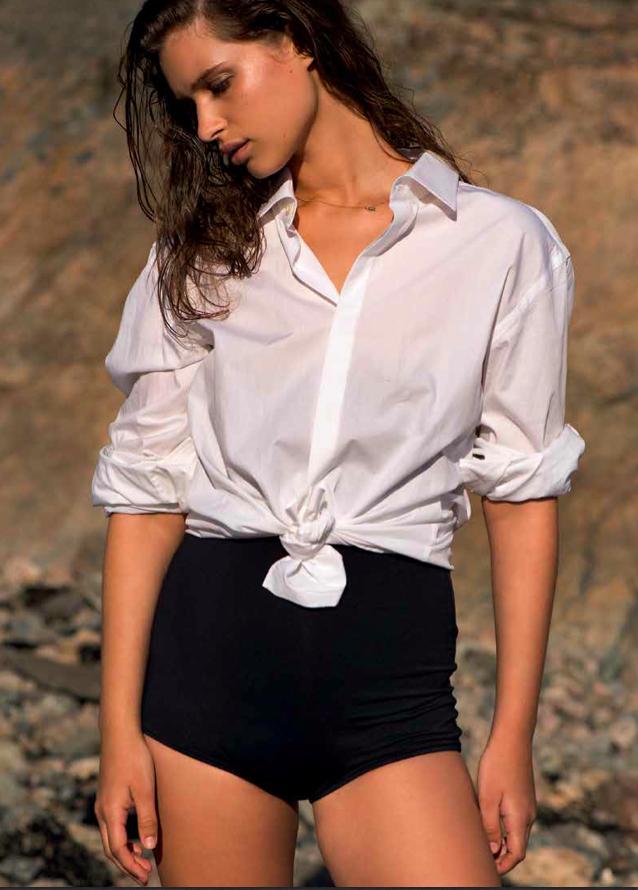 Fra PS #3  Skjorte: Cathrine Hammel  Foto: Hinda Fahre / Palookaville Styling: Pauline Naerholm Modell: Lise O / Team Models