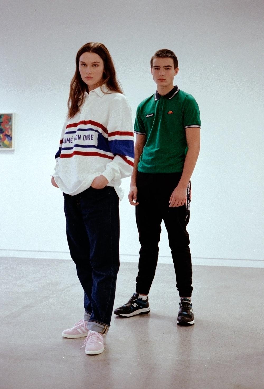 Pauline: Genser AMIÉ LEON DORE /YME UNIVERSE Bukse: LEE Sko: ADIDAS Kornelius: T-shirt ELLESSE Bukse REEBOK Sko NEW BALANCE