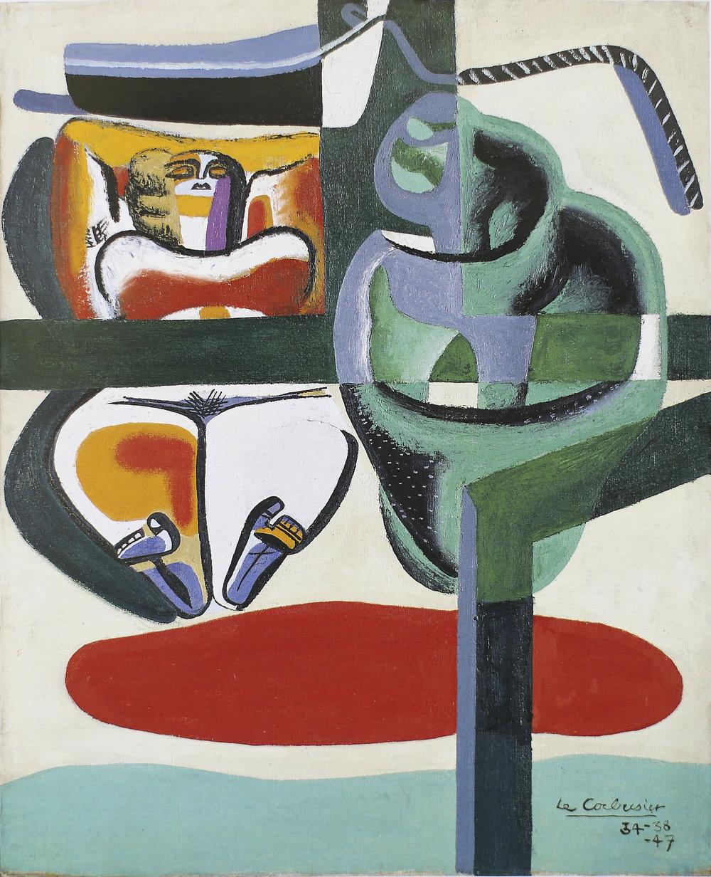 Le Corbusier, Baigneuse, barque et coquillage.  The Foundation Le Corbusier © FLCADGAP