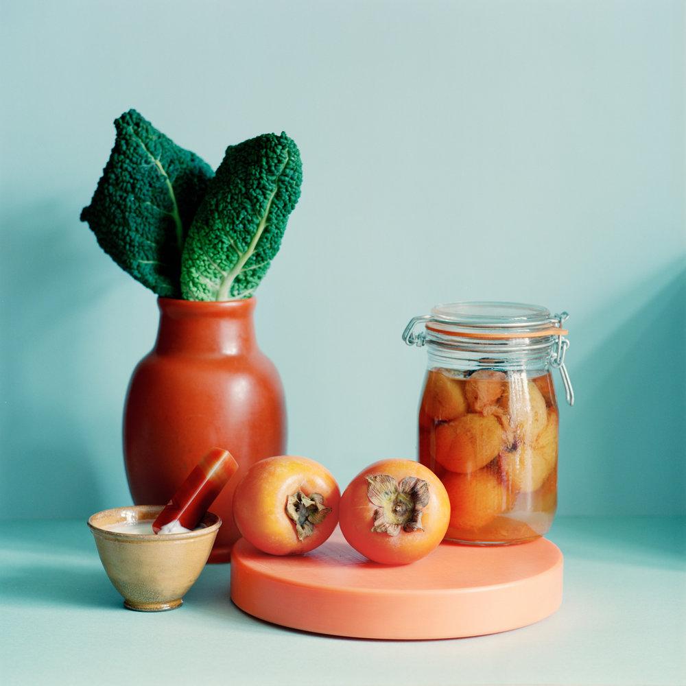 På glass. - Vintage vaseSkjærebrett fra HAY