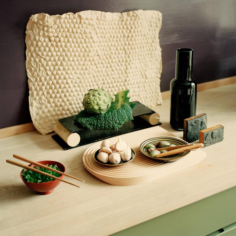 Grønn salat. - Skjærefjøl fra HAYPapir fra Norway Designs