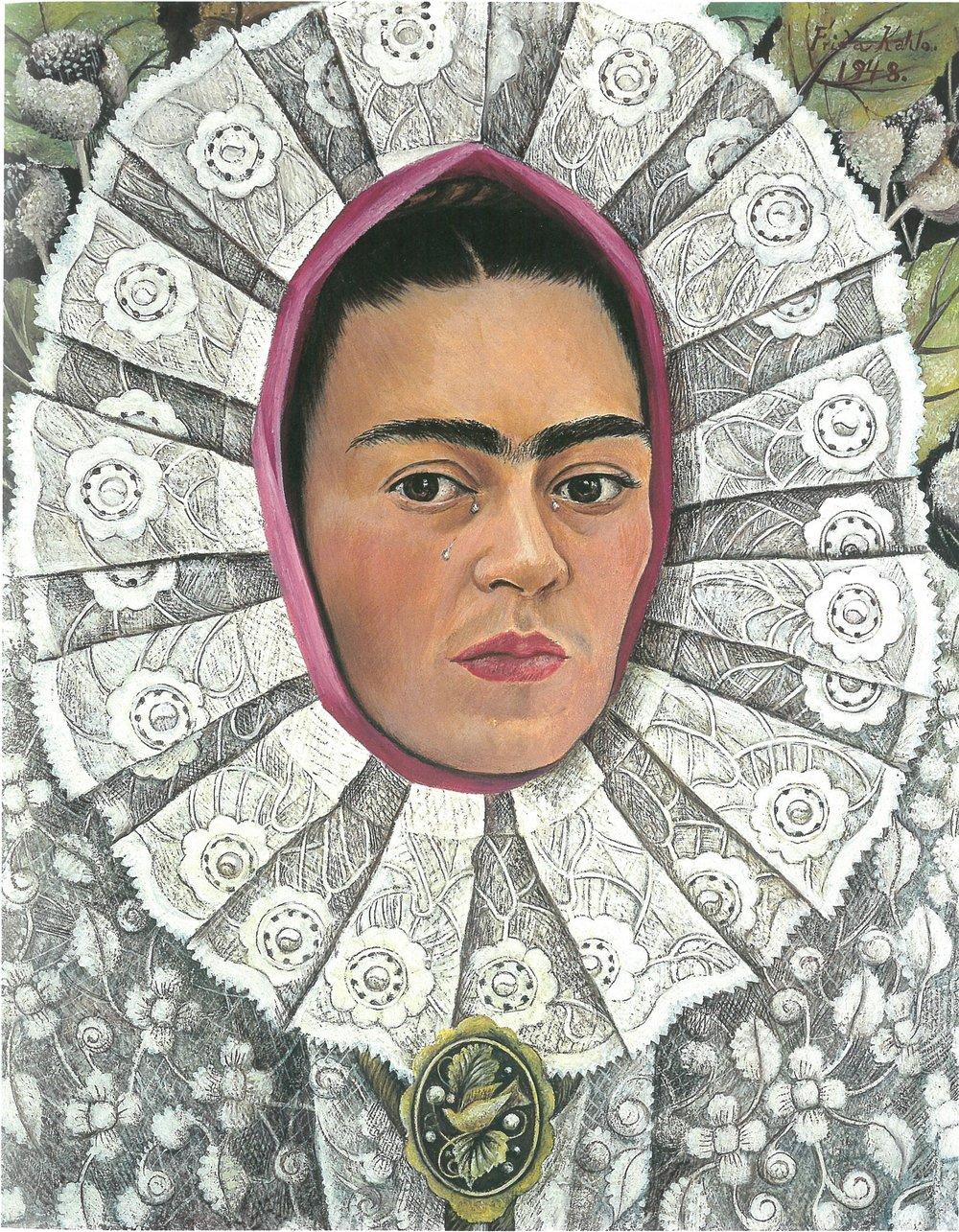 Self-Portrait, Frida Kahlo, 1948  © 2017 Banco de México, Fiduciary of the Trust of the Diego Rivera and Frida Kahlo Museums, Av. 5 de Mayo, No. 2, Col. Centro, Del. Cuauhtémoc, CP 06000, Mexico City.