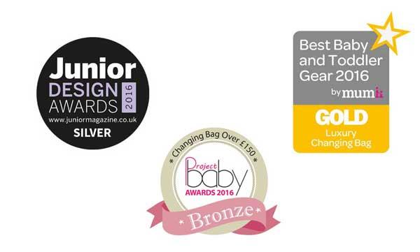 2016 JDA Silver Award, Project Baby Bronze Award & Mumii Luxury Changing Bag Gold Award