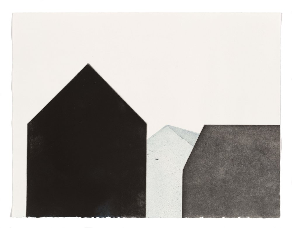 I want to be alone, multi-plate aquatint, 37.5 x 28.5cm, 2017