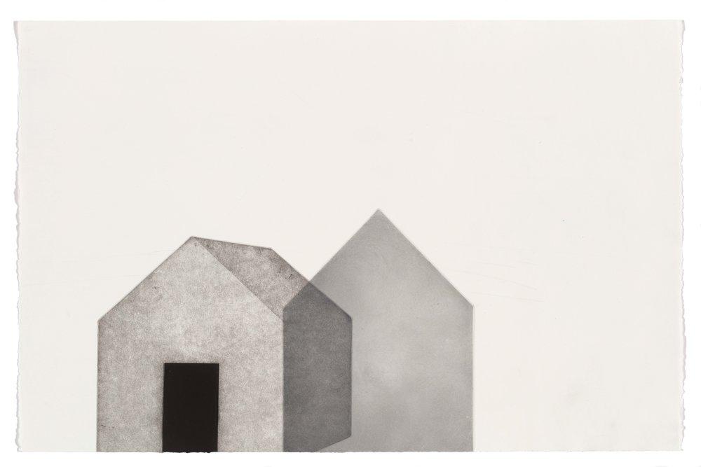 Together alone, multi-plate aquatint, 57.5 x 37.5cm, 2017