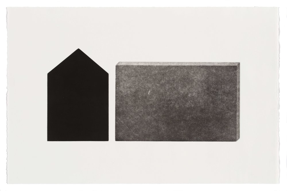 Over here, multi-plate aquatint, 57.5 x 37.5cm, 2017