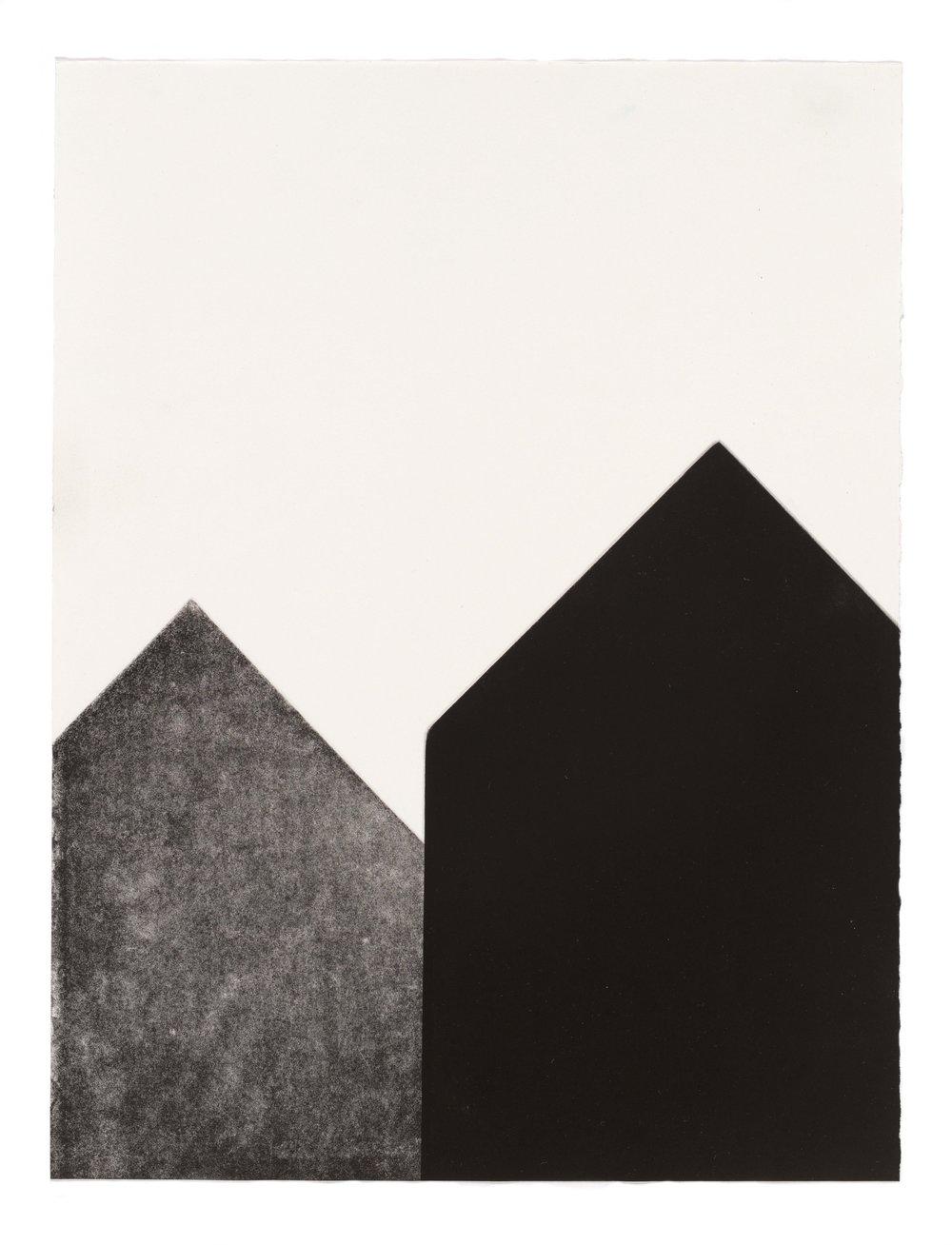 Close to you, multi-plate aquatint, 28.5 x 37.5cm, 2017