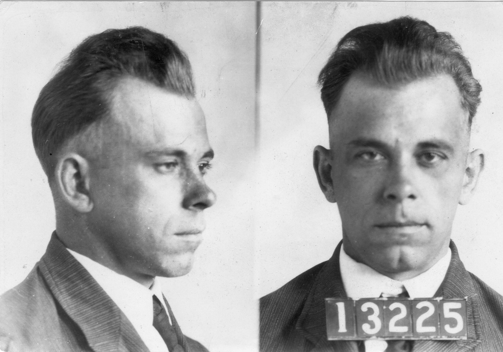John Dillinger arrest photo courtesy of FBI