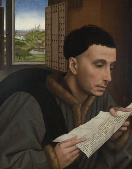 A Man Reading (Saint Ivo?) about 1450, Workshop of Rogier van der Weyden