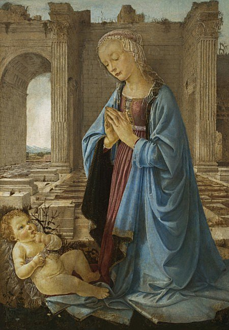 Andrea del Verrocchio The Virgin Adoring the Christ Child ('The Ruskin Madonna')