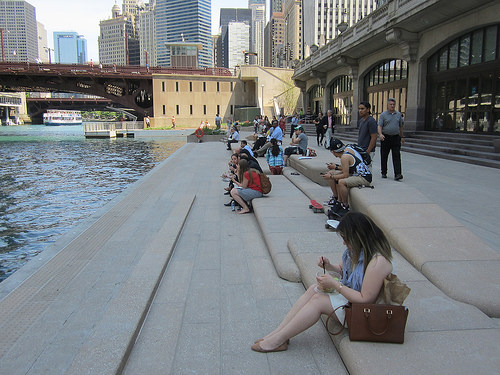 Section of the Chicago Riverwalk